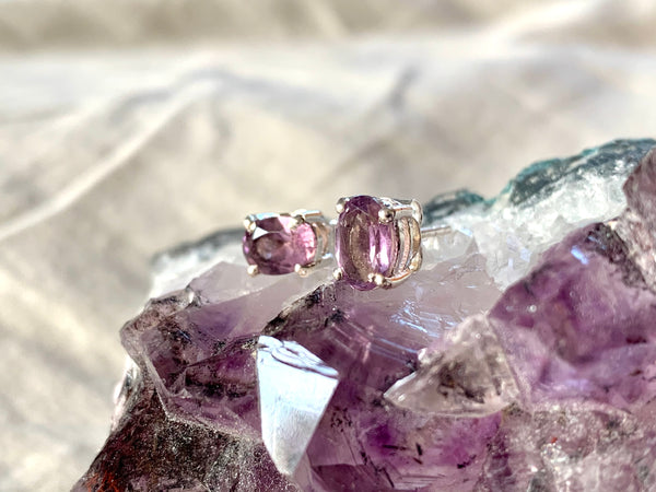 Amethyst Sanaa Studs - Faceted - Jewels & Gems