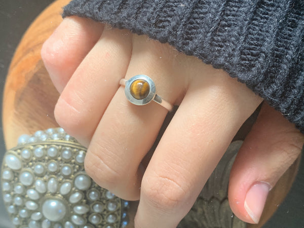 Tiger's Eye Calix Ring - Jewels & Gems