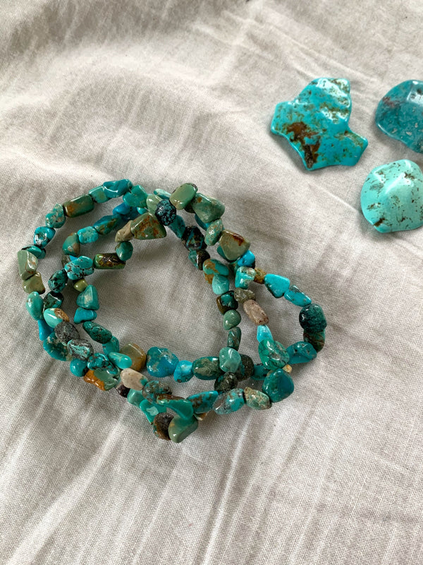 Natural Turquoise Bracelet - Jewels & Gems
