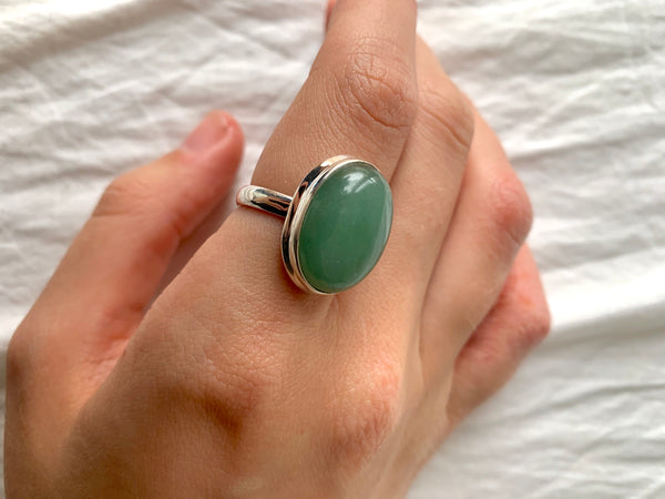 Aventurine Ari Ring - Large Oval - Jewels & Gems