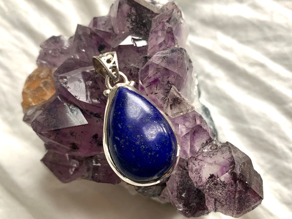 Lapis Lazuli Ariel Pendant - Teardrop (with Designed Bail) - Jewels & Gems