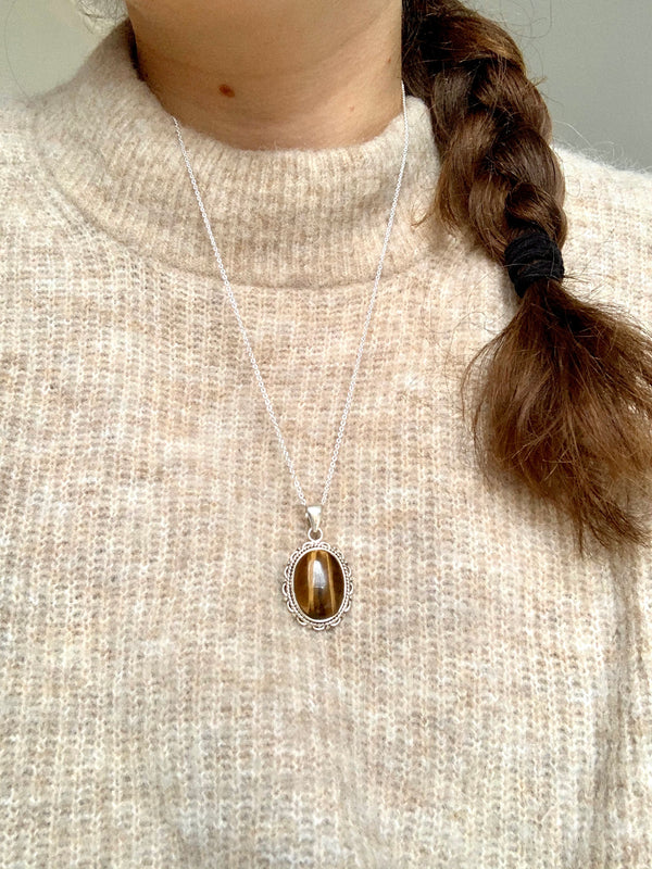 Tiger's Eye Nissa Pendant - Jewels & Gems