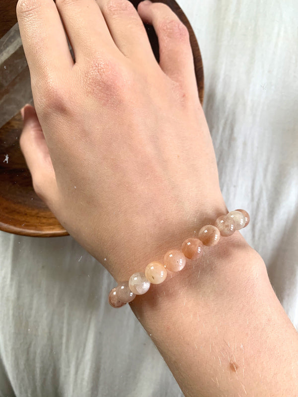 Peach Moonstone Bracelet - Jewels & Gems