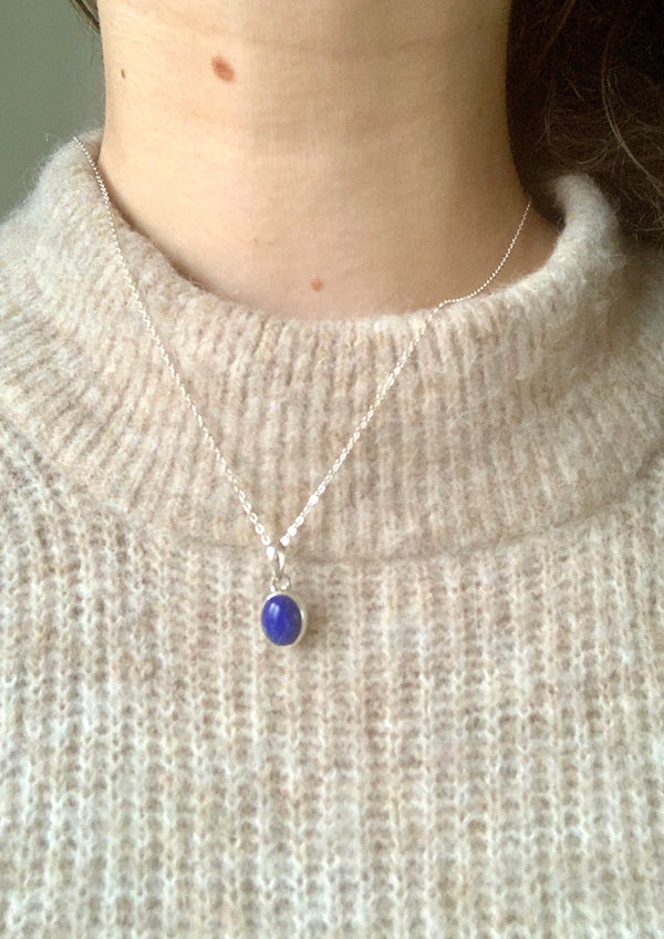 Lapis Lazuli Akoni Pendant - Small Oval - Jewels & Gems