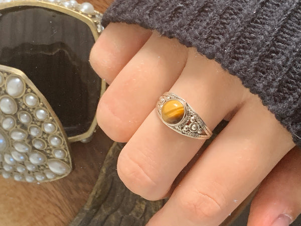 Tiger's Eye Aurea Ring - Jewels & Gems