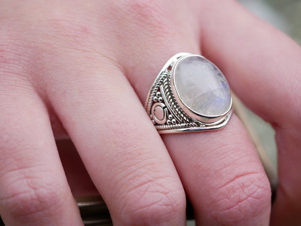 Moonstone Caleb Ring - Jewels & Gems