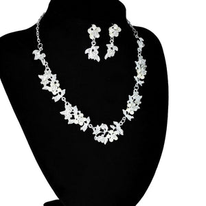 Wedding Bridal Jewelry Crystal Rhinestone Necklace Earring Sets