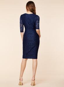 Sexy Ruffles Floral Lace Party Pencil Dress