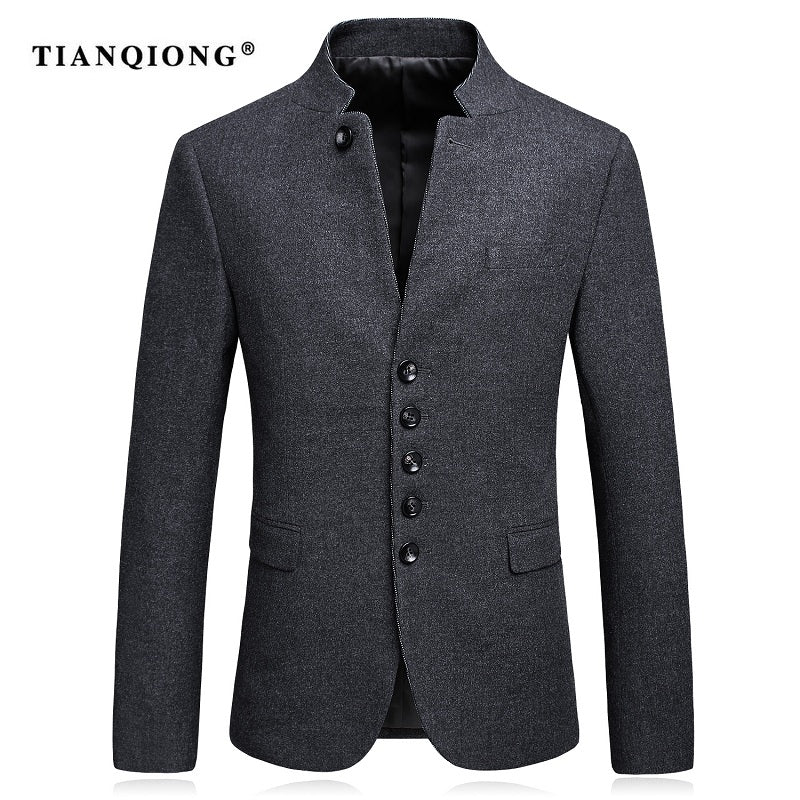 Slim Fit Wool Blazer with Pants