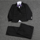 Infant Boys Black Wedding Suit
