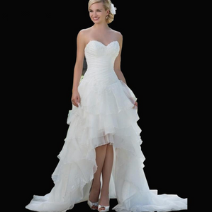 Corset Short Front Long Back Wedding Dresses