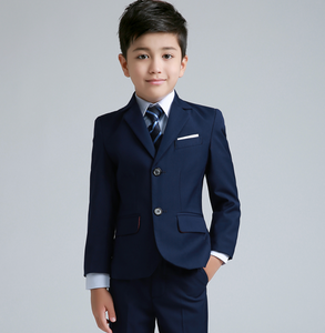 Boys formal England style Blazer Vest  children Suit