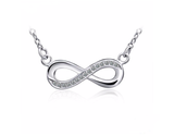 925 Sterling Silver Necklace Women Infinity Love Pendants Necklaces