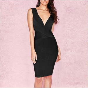 Cross Front Bandage Dress Sleeveless