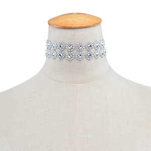 Full Diamond Crystal Rhinestone Choker Necklace Wedding Jewelry