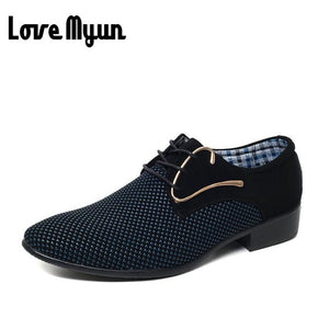 Mens fashion Oxfords  Pointed toe dress shoes, white blue shoes lace up shoes