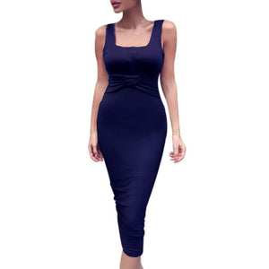Fashion Cotton Sleeveless Slim Dress