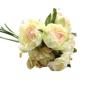 Artificial flowers for Wedding bouquet silk arrangements decoration