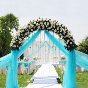 Sheer Fabric Wedding Decoration DIY Chair Sash Table Runners Tulle Roll