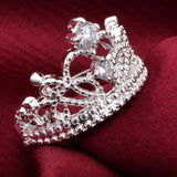 Princess Wedding Band Zircon Crown Ring Jewelry