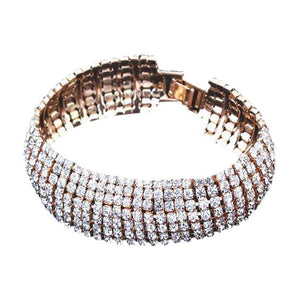 Rhinestone Stretch Multilayer Bracelet  for Wedding