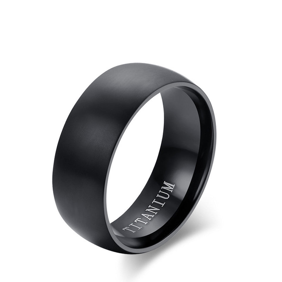 Men Ring High Quality Black  Wedding Rings For Men And Women