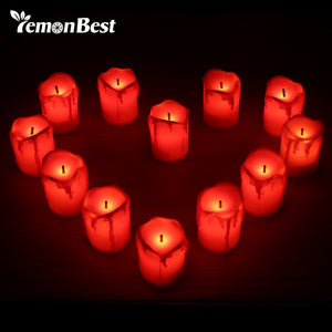 Flameless LED Smokeless Candle Light Tea Safety