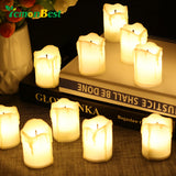 LemonBest 12pcs Flameless LED Candle Light Tea Lights Smokeless