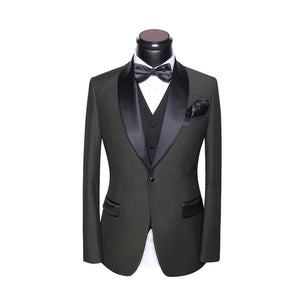 Mens 5 Piece Suits  (Jacket+Pants+Vest+Tie+Square)