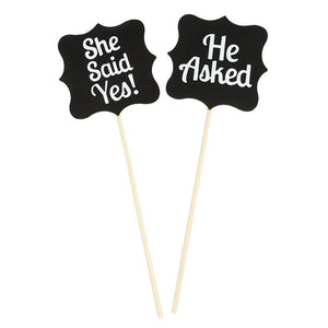 Wood Wedding Gift She Said Yes Sign Accessories