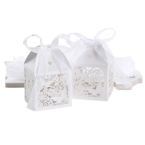 Hollow Butterfly Style Wedding Favor Candy Gift Boxes