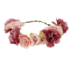 Flower Wreath headband Floral Garland Crown Hair Accessories
