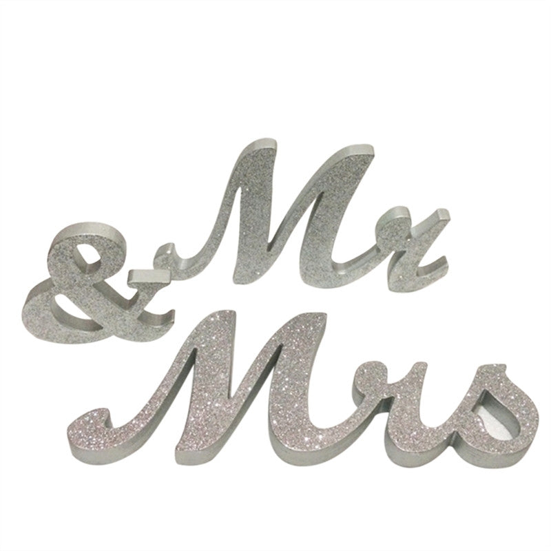 MR & MRS Wooden Letters Wedding Decoration Wedding Present