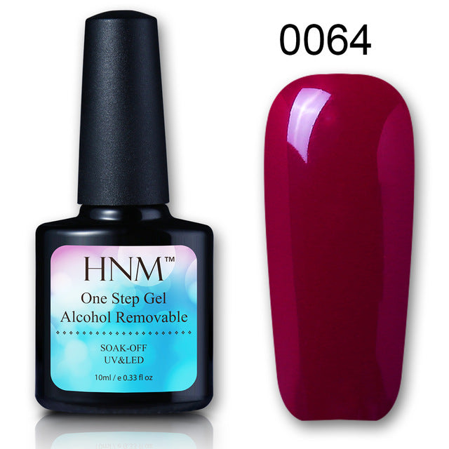 HNM One Step Nail Polish 10ML 3 in 1 UV Nail Polish Lucky Lacquer