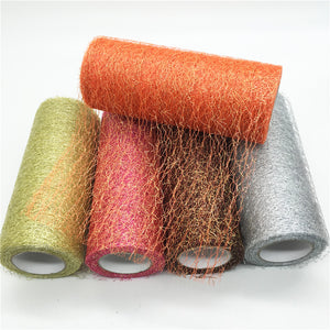 Sheer Wire Tissue Tulle Roll Spool Craft DIY Decoration, Gauze Table Runner