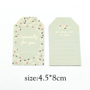 50PCS/Lot 2 Size Paper Tags With String DIY Craft Label