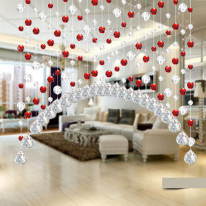 Crystal Glass Bead Curtain Luxury Window Door Wedding Decor