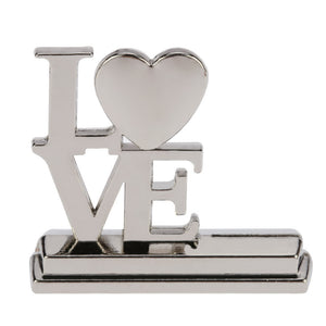 LOVE English Letters Place Card Alloy Holders Table Mark Cards for Wedding