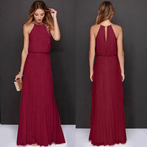 Formal Chiffon Sleeveless Evening Long Maxi Dress