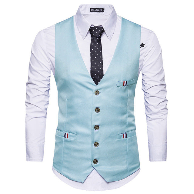 Classic V Neck Vest Slim Fit