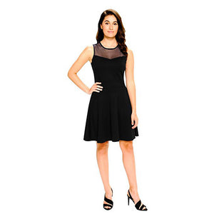 Pleated Sleeveless Cocktail Dress