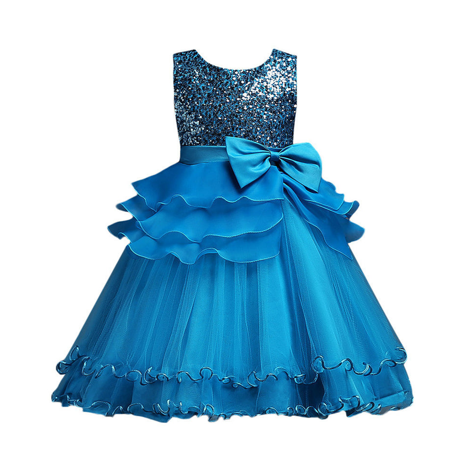 Baby Girl Princess Bridesmaid Floral Pageant Gown