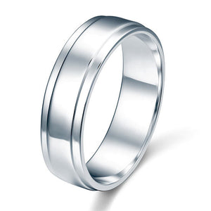 Men's Sterling 925 Silver Wedding Band Ring