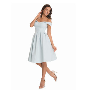 Elegant Evening Backless Midi Dress