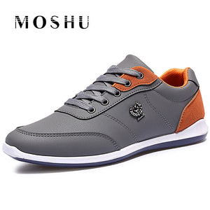 Men Flats lightweight Casual Shoes Men British Style Breathable Lace Up Shoes