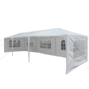 Gazebo Tent Pavilion Canopy Heavy Duty w/Side Walls 10'X30'