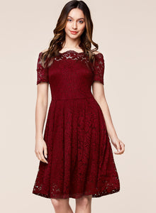 Shoulder Lace Dress