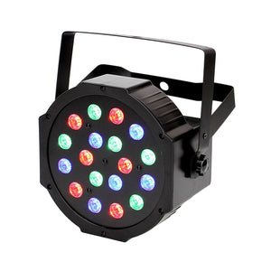 RGB PAR Light 18 LEDs DMX512 Color Mixing Wash Can Stage Light