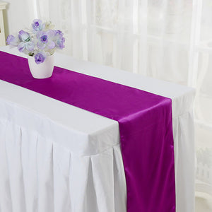 Satin Table Runner For Wedding Decoration Chair Sash