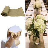 Natural Jute Hessian Burlap Chair Bow Table Runners for Wedding 15*240CM